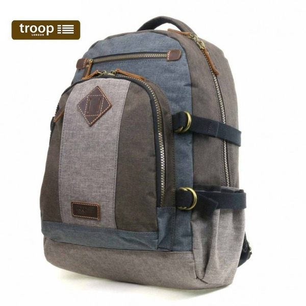 【TROOP】都會時尚URBAN雙肩包/TRP0385GY(灰色)