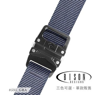 丹大戶外用品【BISON DESIGNS 】LOPRO™腰帶(黑色扣頭) 30mm 石墨色 535GRA