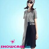 【SHOWCASE】側邊雪紡百褶造型洋裝(灰)