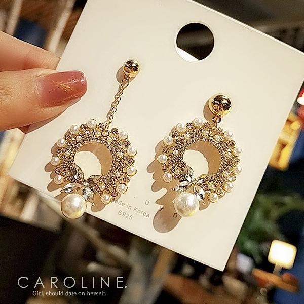 《Caroline》★韓國熱賣造型時尚  浪漫風格,優雅性感耳環71189
