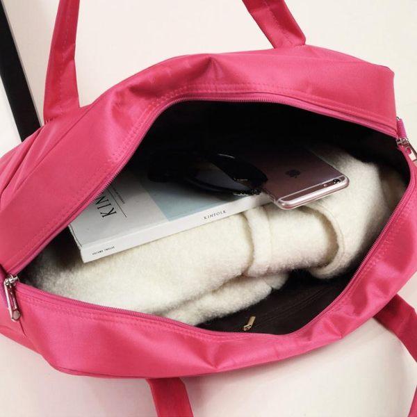 旅行袋正韓輕便防水手提旅行包女男短途大容量行李包旅行袋旅游健身待產 百貨週年慶