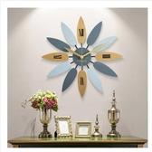 掛鐘美式現代簡約客廳家用時鐘時尚潮流大氣石英鐘表