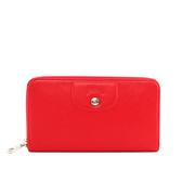 【LONGCHAMP】小羊皮ㄇ型拉鏈長夾(紅色)3427737045