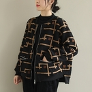 純棉加絨短外套 拉鏈立領休閒長袖棉服/2色-夢想家-1023