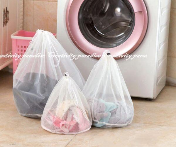 【拉繩洗衣袋大號】加厚束口拉繩式洗衣袋 抽繩式束口袋 細網衣物護洗袋 外套冬季衣物