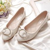 豆豆鞋女新款真皮軟底夏季單鞋百搭女士尖頭淺口軟皮平底鞋女