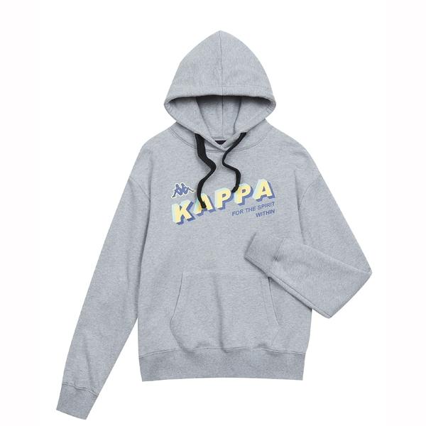KAPPA 義大利女吸濕排汗針織帽T恤 灰 37148DW411