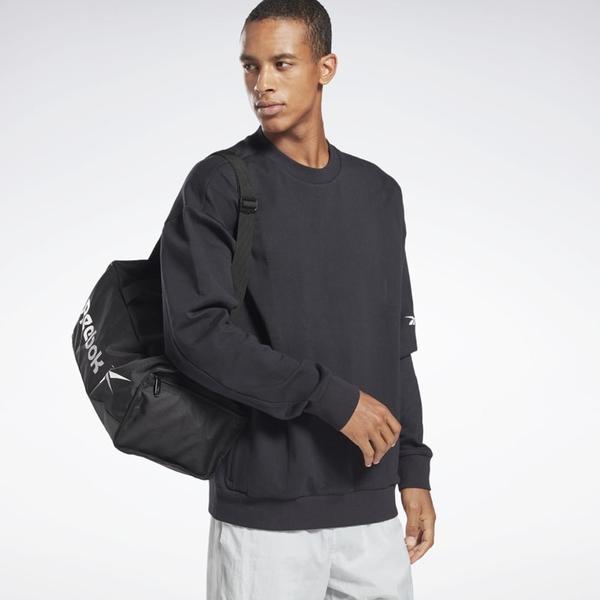 REEBOK Training Essentials Grip 旅行袋 肩背 手提 黑【運動世界】GP0178