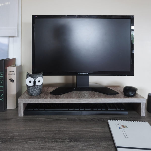 【#全新】福可斯多功能螢幕架-橡木色E1板 /電腦桌/書桌/辦公桌/工作桌