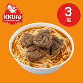 【KK Life-紅龍免運組】紅燒腱心牛肉麵3盒(牛肉湯600g*2包; 麵220g*2包)