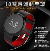 熱銷爆款現貨 i8智能手環  手錶藍芽健康新款 紅色經典款   米蘭街頭