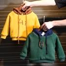 男童衛衣免運新款韓版洋氣加絨加厚兒童連帽絨衫秋冬裝寶寶上衣潮