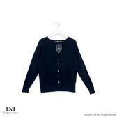 【INI】超值舒適、V領織紋質感針織外套.黑色