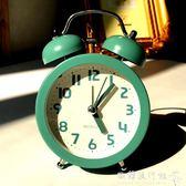 鬧鐘  鬧鐘創意小鐘錶學生簡約可愛時鐘靜音床頭臺鐘兒童迷你時尚夜光鐘  『歐韓流行館』