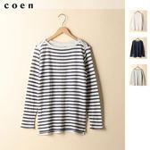 橫條紋T恤 長袖上衣 現貨 免運費 日本品牌【coen】