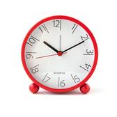 簡約生活鐵製4吋鬧鐘 紅