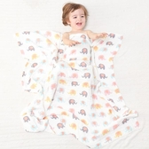 紗布浴巾新生嬰兒全棉大毛巾被夏天寶寶正方形蓋毯子四季薄款