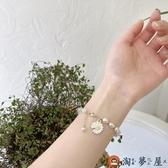 手鏈女小雛菊轉運珠手鐲珍珠簡約手飾【淘夢屋】