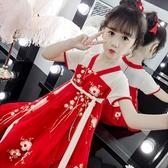 女童連身裙洋裝夏裝新款兒童漢服中國風洋氣裙子夏季童裝女孩古裝