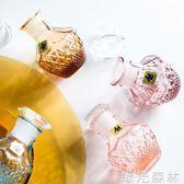 油壺 水晶玻璃鉆石紋防漏調料瓶醋瓶醬油瓶 綠光森林