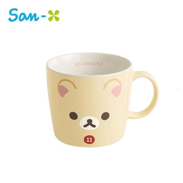 懶熊妹款【日本正版】拉拉熊 大臉系列 陶瓷 馬克杯 250ml 日本製 咖啡杯 懶懶熊 Rilakkuma San-X - 706131