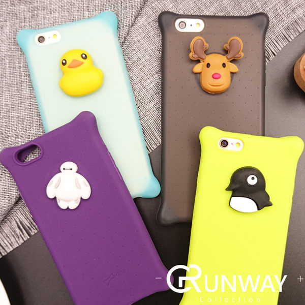 【R】DD 小鴨 大白 企鵝 麋鹿 手機殼 iPhone 6 plus I6 蘋果 矽膠 全包邊軟殼