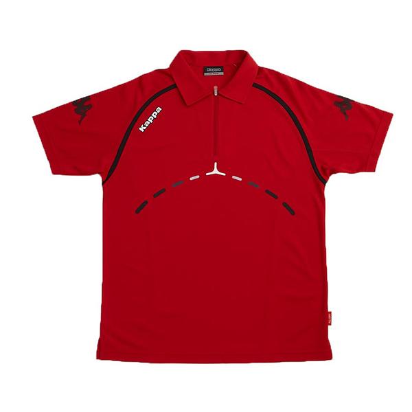 KAPPA義大利 時尚型男ALLDRY吸濕排汗POLO衫 大紅/黑