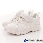 日本Moonstar月星機能童私校純白2E運動鞋款-MSTW011白(中大童段)