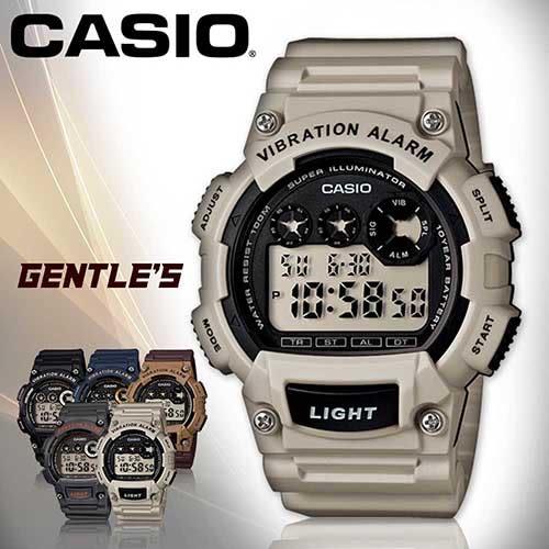 CASIO手錶專賣店 卡西歐 W-735H-8A2 男錶 震動 電子數字 運動型 壓克力玻璃鏡面 橡膠錶帶