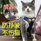 寵物牽引繩 貓咪貓繩子遛貓繩胸背帶防掙脫栓貓繩背心式幼貓鍊子溜貓繩 萬寶屋