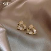 古里雅耳環2020年新款潮女925純銀銀針耳釘通勤耳飾氣質簡約耳墜