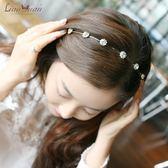 韓版淑女寬邊水鉆發箍發卡發飾 韓國簡約新娘頭飾 防滑合金頭飾品 一次元