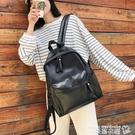 皮革後背包 書包女韓版高中森系大容量皮質後背包2021年新款大學生pu軟皮背包 曼慕