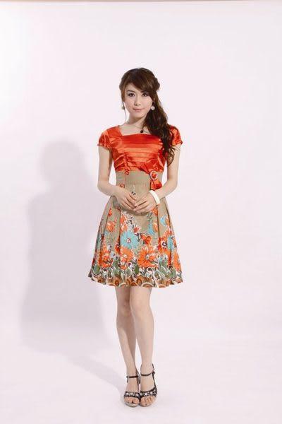 促銷熱賣夏裝新款女裝 波西米亞花色甜美大碼連衣裙 女