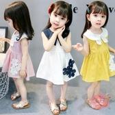 兒童洋裝 夏裝新品女寶寶正韓洋氣裙子春裝女孩女童短袖兒童夏季連身裙【快速出貨】
