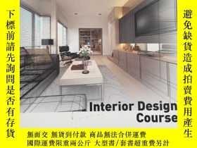 二手書博民逛書店Interior罕見Design Course: Princip