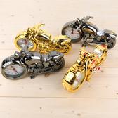 復古懷舊摩托車模型鬧鐘時鐘