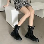 馬丁靴女裝2021秋季新款高幫鞋子韓版網紅ins繫帶靴子休閒短靴潮 童趣屋  新品