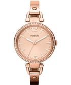 FOSSIL 俏皮女孩晶鑽時尚腕錶/手錶-玫塊金 ES3226