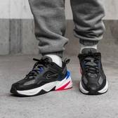 【折後$2799再送贈品】NIKE M2K Tekno Dad Shoes 黑藍紅 復古 老爹鞋 皮革 男鞋 運動鞋 AV4789-003