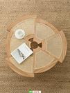 弄居 ∣ 北歐侘寂風藤編茶幾客廳圓形茶桌設計師日式矮桌民宿家具【頁面價格是訂金價格】