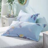 100%棉質斜紋枕頭套兒童加厚單人全棉枕套一對裝學生宿舍用
