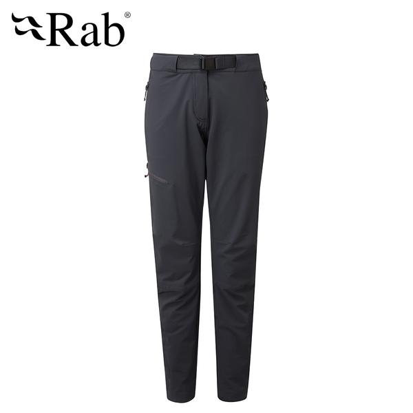 英國 RAB Vector Pants 防潑水彈性耐用長褲 女款 烏木灰 #QFU19