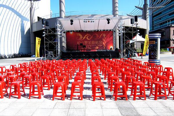 ★集樂城燈光音響★台北地區紅色塑膠椅出租每張 $15/日(量大可議)!!