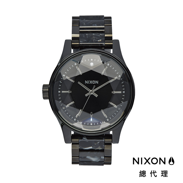 【官方旗艦店】NIXON FACET 42 閃耀系 鑽石切割錶面 爆裂黑 潮人裝備 潮人態度 禮物首選