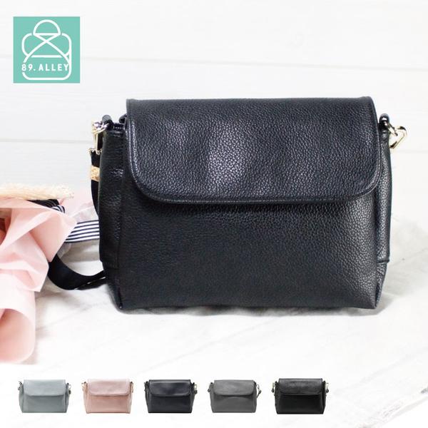 側背包 手感軟皮革磁釦翻蓋三層款兩用小方包 斜背包 女包 89.Alley-HB89271