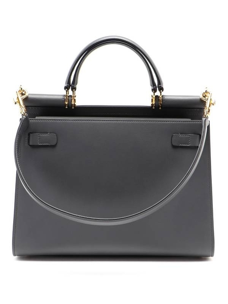 ■專櫃63折■全新真品■Dolce & Gabbana Sicily 58 霧灰色小牛皮大款西西里包