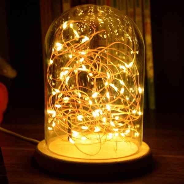 浪漫 LED 星星燈 玻璃 小夜燈 桌燈 交換禮物 情侶 告白神器 七夕 情人節 聖誕節 『無名』 K11117