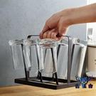 收納架杯架鐵藝杯子玻璃杯置物架水杯掛架瀝水架【古怪舍】