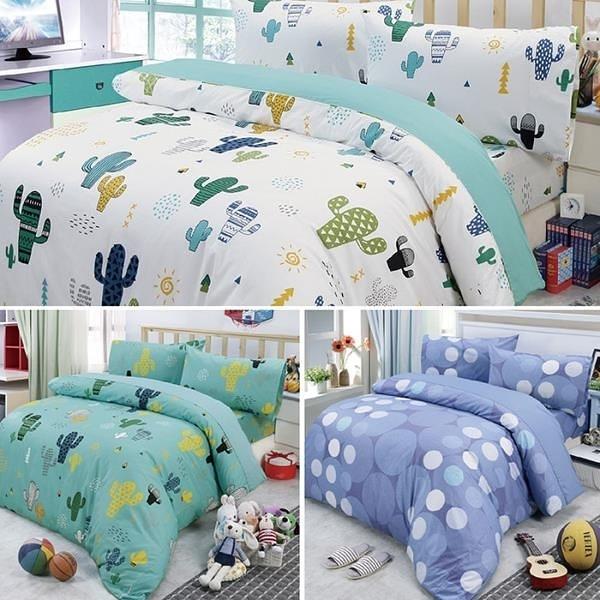 【南紡購物中心】【Victoria】加大四件式純棉被套床包組-多款任選